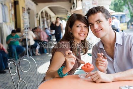 couple with dessert