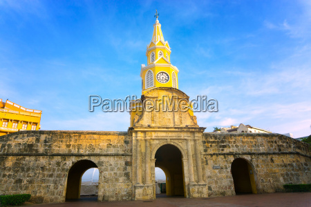 clock tower gate and wall