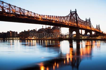 queensboro bridge at sunset new york