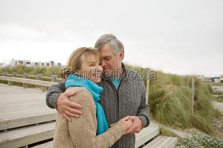loving couple at the coast