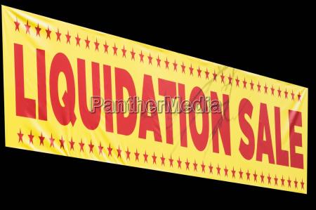 sign reading liquidation sale