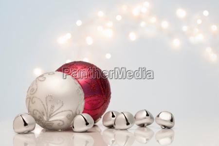 christmas decorations and jingle bells