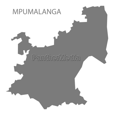 mpumalanga south africa map grey