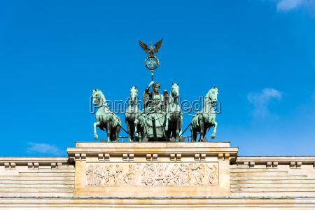 detail of the quadriga on the