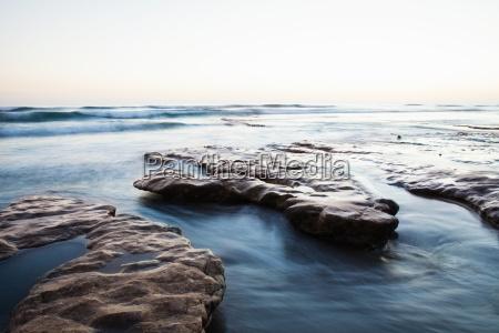 rock platform encinitas california usa