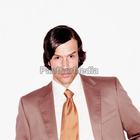 portrait of a charming businessman