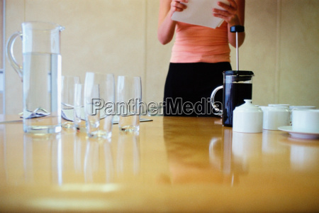 woman preparing for a meeting