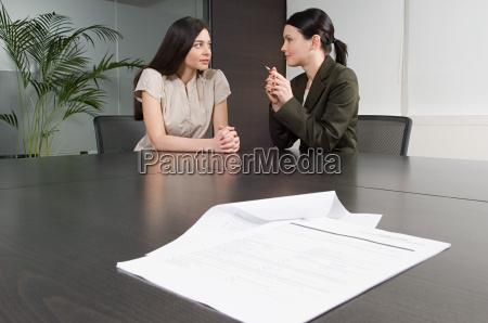 bank manager helping customer