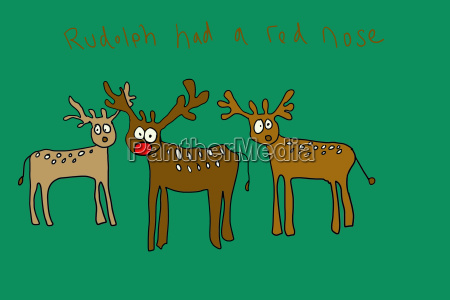 rudolph had a red nose