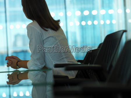 woman in a meeting room