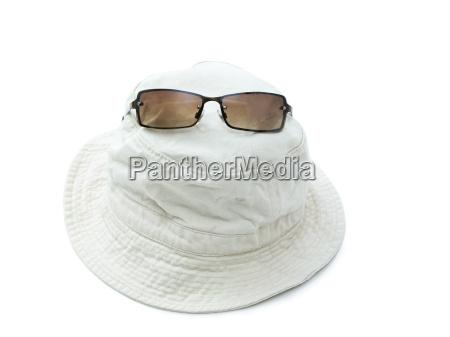 sunhat and sunglasses