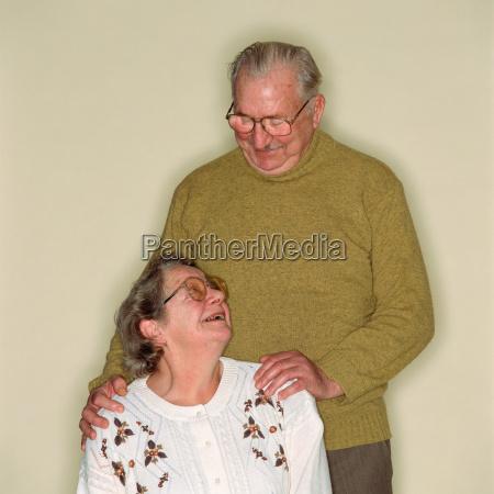 loving senior couple