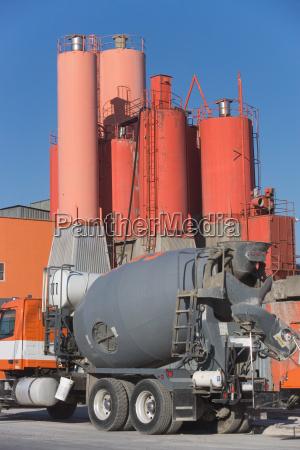 industria impianti industriali calcestruzzo trasporto allaperto