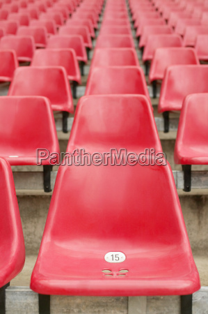 red, stadium, seats - 18764554