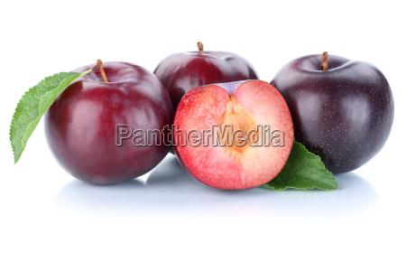 plum plum blue cut biologically fruits