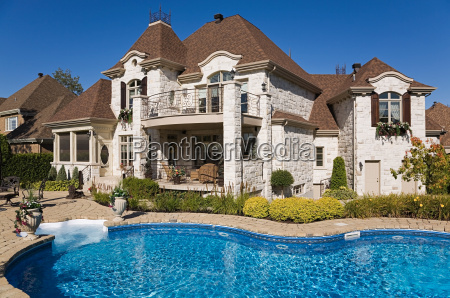 large house with swimming pool
