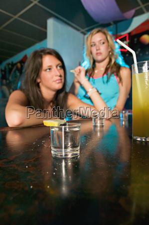 two drunk women