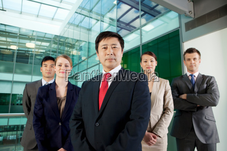 multi racial businesspeople portrait