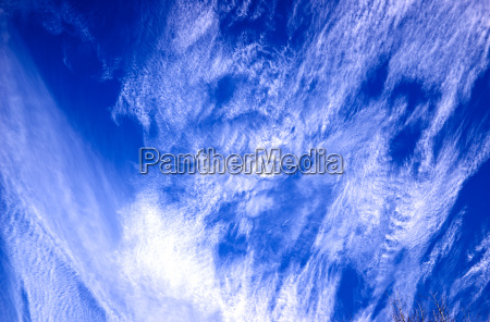 low angle view of cirrus clouds