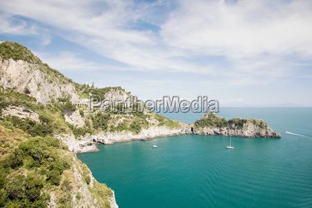 emerald cave on the amalfi coast
