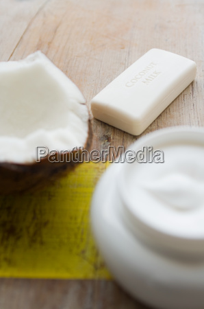 coconut soap and cream