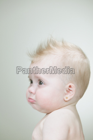 baby girl with spiked hair