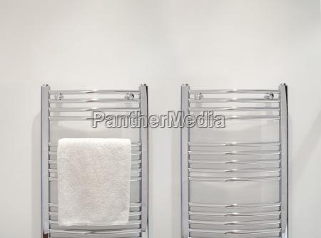towel on heated towel rail