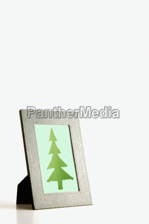 christmas tree in picture frame