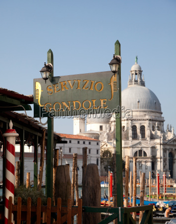 gondola sign and santa maria della