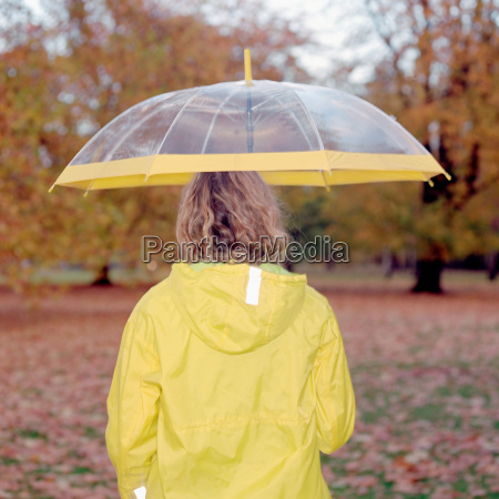 woman with see through umbrella