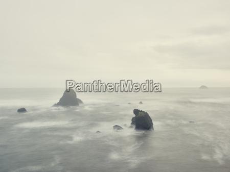 rocky ocean scene trinidad beach california