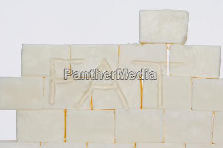 blocks of lard