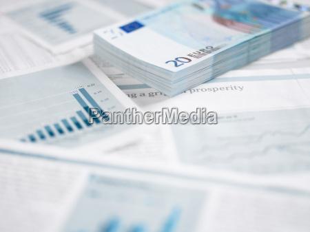 pile of twenty euro notes on