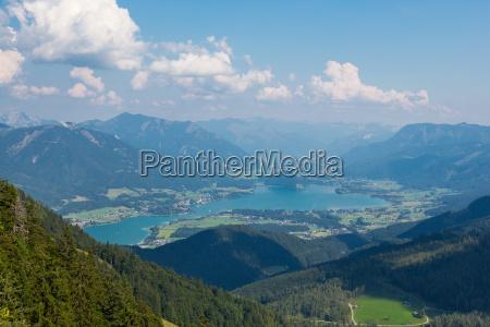 wolfgangsee in salzkammergut austria