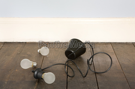 lampshade and lightbulbs on floor