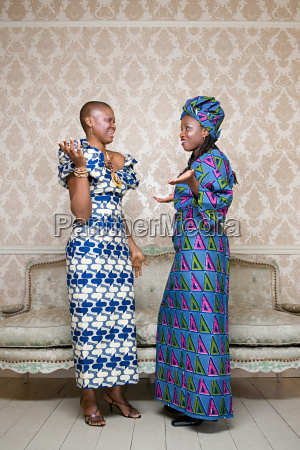 two women in traditional clothing