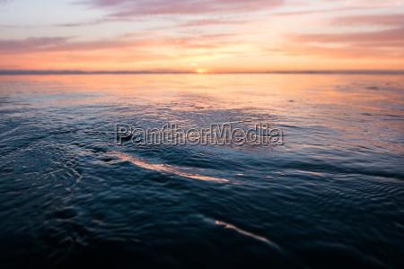 sunset over sea encinitas california usa