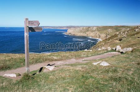 signpost at lands end