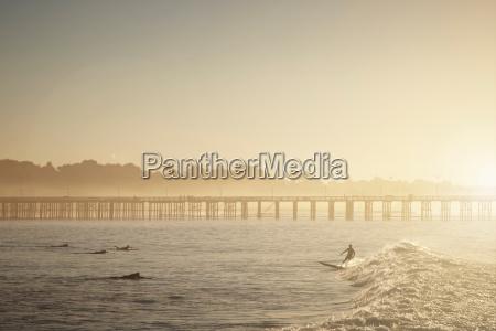 surfer in ocean ventura california