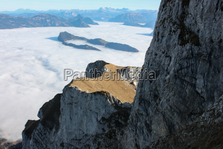 view from mount pilatus and clouds