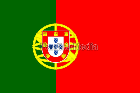 flag of portugal in correct proportions