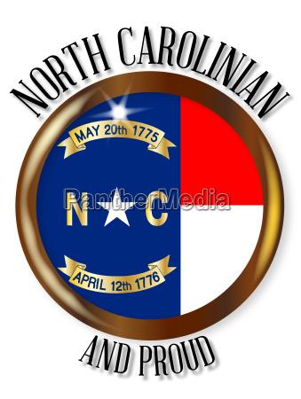 north carolina proud flag button