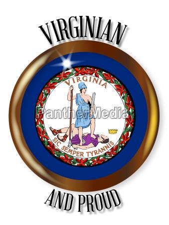 virginia proud flag button