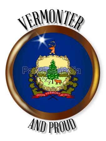vermont proud flag button