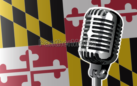 maryland flag and microphone