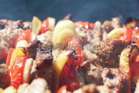 meat grilled vegetables