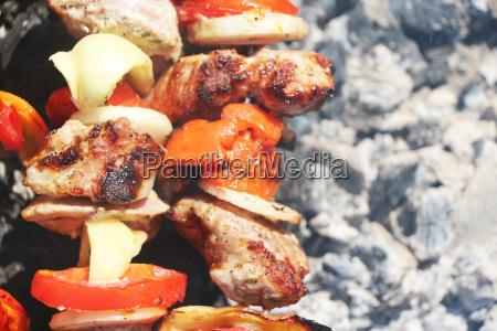 meat grilled vegetable ash macro