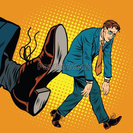 businessman dismissal pop art