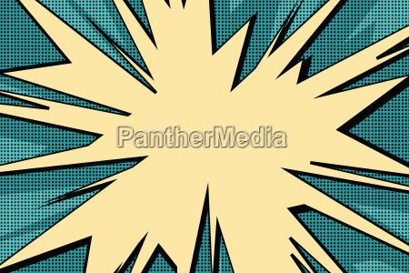 explosive pop art background comics bubble