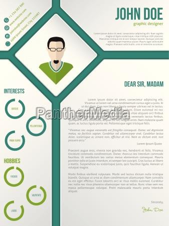 modern cv resume cover letter template